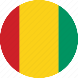 circle, circular, country, flag, flag of guinea, flags, guinea, guinea flag, national, round, world icon
