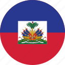 circle, circular, country, flag, flag of haiti, flags, haiti, haiti flag, national, round, world icon