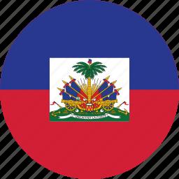 circle, circular, country, flag, flag of haiti, flags, haiti, haiti flag, national, round, world icon