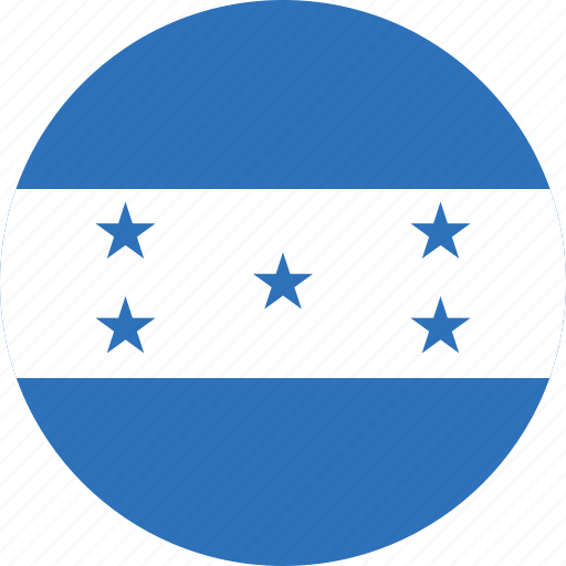 circle, circular, country, flag, flag of honduras, flags, honduras, honduras flag, national, round, world icon