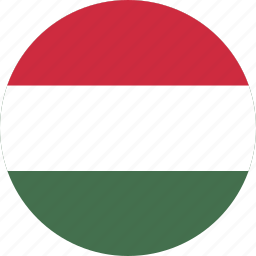 circle, circular, country, flag, flag of hungary, flags, hungary, hungary flag, national, round, world icon
