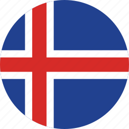 circle, circular, country, flag, flag of iceland, flags, iceland, iceland flag, national, round, world icon