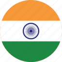 circle, circular, country, flag, flag of india, flags, india, india flag, national, round, world icon