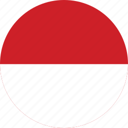 circle, circular, country, flag, flag of indonesia, flags, indonesia, indonesia flag, national, round, world icon