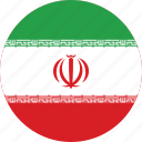 circle, circular, country, flag, flag of iran, flags, iran, iran flag, national, round, world icon