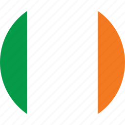 circle, circular, country, flag, flag of ireland, flags, ireland, national, round, world icon