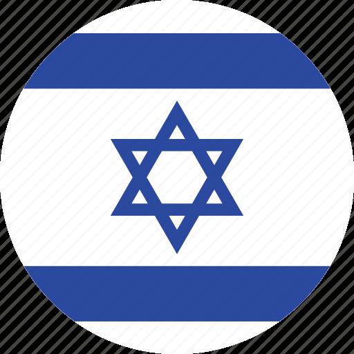 circle, circular, country, flag, flag of israel, flags, israel, israel flag, national, round, world icon