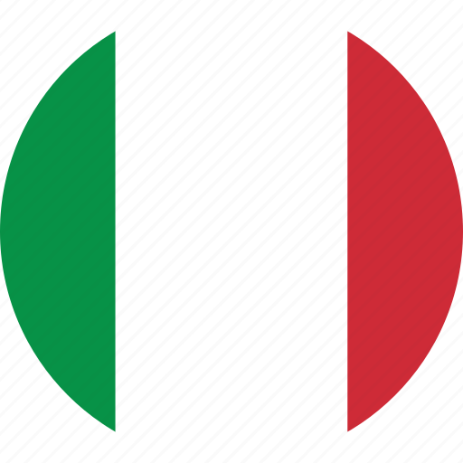 circle, circular, country, flag, flag of italy, flags, italy, italy flag, national, round, world icon