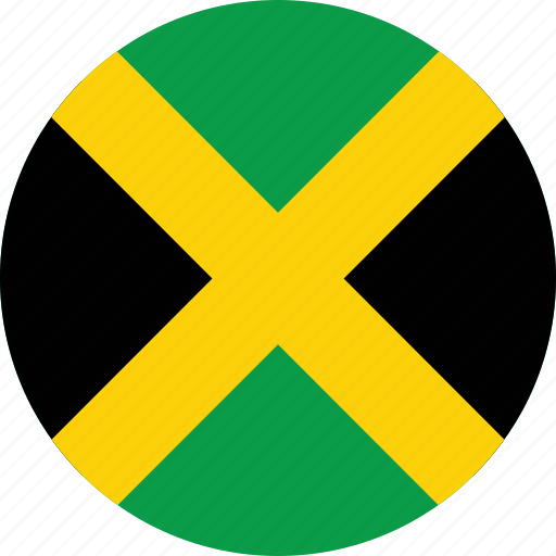 circle, circular, country, flag, flag of jamaica, flags, jamaica, jamaica flag, national, round, world icon