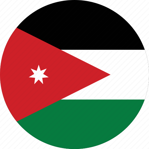 circle, circular, country, flag, flag of jordan, flags, jordan, jordan flag, national, round, world icon