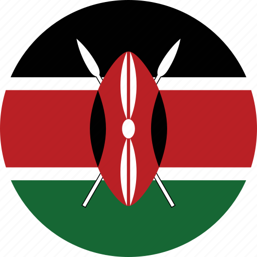 circle, circular, country, flag, flag of kenya, flags, kenya, kenya flag, national, round, world icon