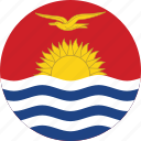 circle, circular, country, flag, flag of kiribati, flags, kiribati, kiribati flag, national, round, world icon