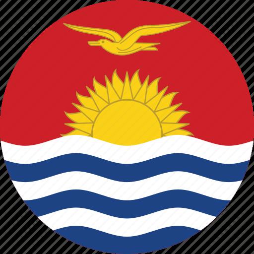 circle, circular, country, flag, flag of kiribati, flags, kiribati, kiribati flag, national, round, world icon