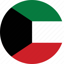 circle, circular, country, flag, flag of kuwait, flags, kuwait, kuwait flag, national, round, world icon