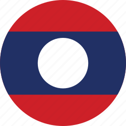 circle, circular, country, flag, flag of laos, flags, laos, laos flag, national, round, world icon