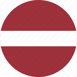 circle, circular, country, flag, flag of latvia, flags, latvia, latvia flag, national, round, world icon