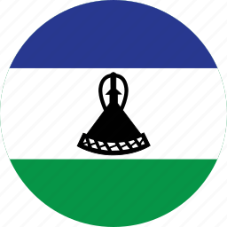 circle, circular, country, flag, flag of lesotho, flags, lesotho, lesotho flag, national, round, world icon