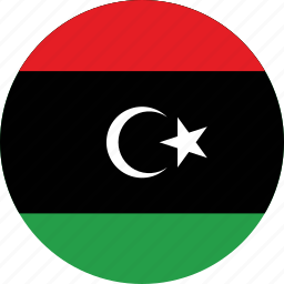 circle, circular, country, flag, flag of libya, flags, libya, libya flag, national, round, world icon