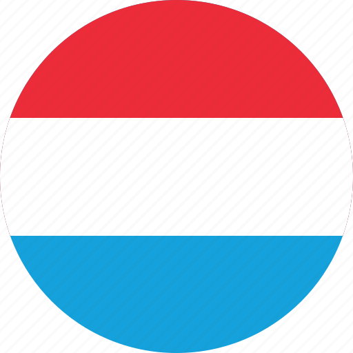 circle, circular, country, flag, flag of luxembourg, flags, luxembourg, luxembourg flag, national, round, world icon