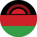 circle, circular, country, flag, flag of malawi, flags, malawi, malawi flag, national, round, world icon