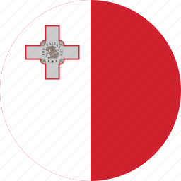 circle, circular, country, flag, flag of malta, flags, malta, malta flag, national, round, world icon