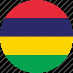 circle, circular, country, flag, flag of mauritius, flags, mauritius, mauritius flag, national, round, world icon