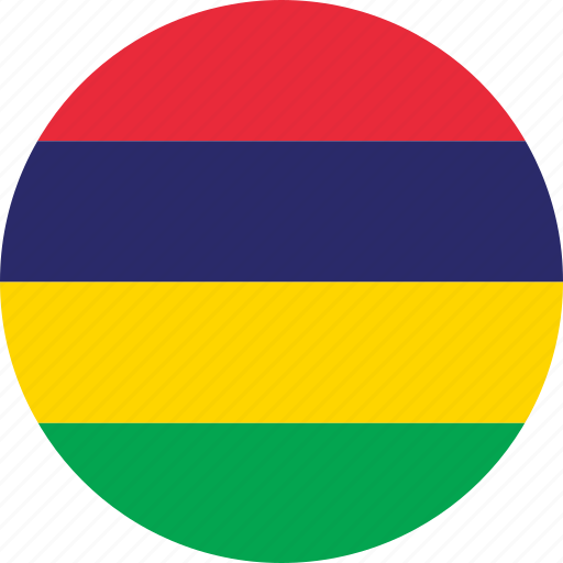 circle, circular, country, flag, flag of mauritius, flags, mauritius, mauritius flag, national, round, world icon