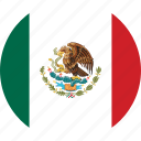 circle, circular, country, flag, flag of mexico, flags, mexico, mexico flag, national, round, world icon