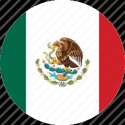 circle, circular, country, flag, flag of mexico, flags, mexico, mexico flag, national, round, world icon