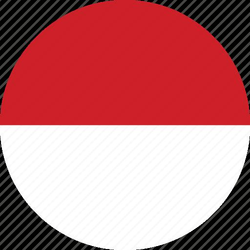 circle, circular, country, flag, flag of monaco, flags, monaco, monaco flag, national, round, world icon