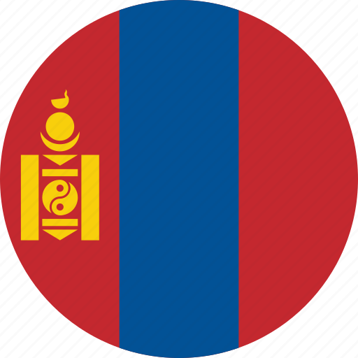 circle, circular, country, flag, flag of mongolia, flags, mongolia, mongolia flag, national, round, world icon