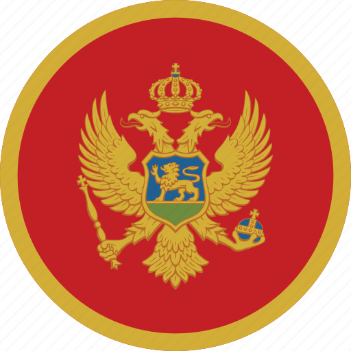 Image result for montenegro flag circle