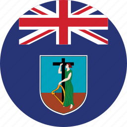 circle, circular, country, flag, flag of montserrat, flags, montserrat, montserrat flag, national, round, world icon