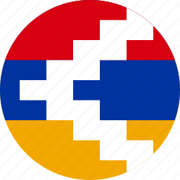 circle, circular, country, flag, flags, karabakh, karabakh republic, nagorno, nagorno-flag of karabakh, national, round, world icon