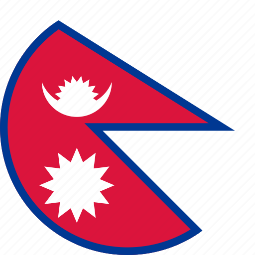 circle, circular, country, flag, flag of nepal, flags, national, nepal, nepal flag, round, world icon
