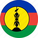 caledonia, circle, circular, country, flag, flag of new, flag of nouvelle, flags, national, new, new caledonia, nouvelle cal, nouvelle calédonie, round, world icon