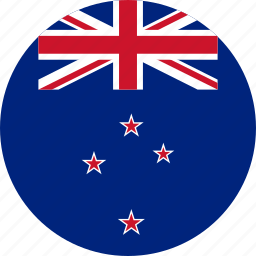 circle, circular, country, flag, flag of new zealand, flags, national, new, new zealand, round, world, zealand icon