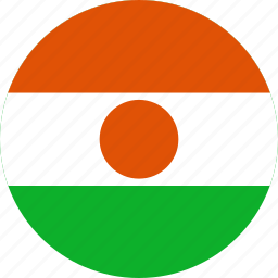 circle, circular, country, flag, flag of niger, flags, national, niger, niger flag, round, world icon