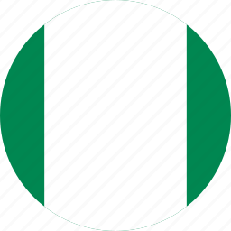 circle, circular, country, flag, flag of nigeria, flags, national, nigeria, nigeria flag, round, world icon