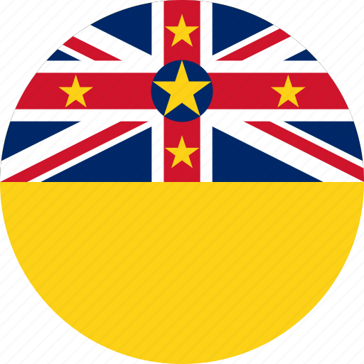 circle, circular, country, flag, flag of niue, flags, national, niue, niue flag, round, world icon