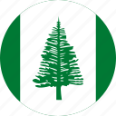 circle, circular, country, flag, flag of norfolk, flags, island, national, norfolk, norfolk island, round, world icon