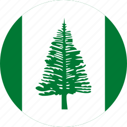 circle, circular, country, flag, flag of norfolk, flags, island, national, norfolk, norfolk island, round, world icon