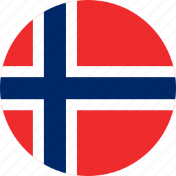 circle, circular, country, flag, flag of norway, flags, national, norway, norway flag, round, world icon