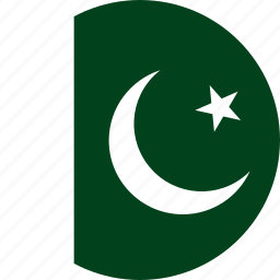 circle, circular, country, flag, flag of pakistan, flags, national, pakistan, pakistan flag, round, world icon