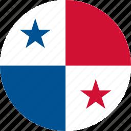 circle, circular, country, flag, flag of panama, flags, national, panama, panama flag, round, world icon