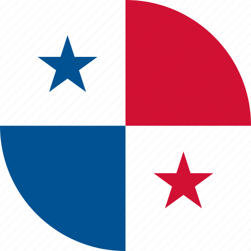 circle, circular, country, flag, flag of panama, flags, national, panama, panama flag, round, world icon
