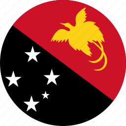 circle, circular, country, flag, flag of papua, flag of papua new guinea, flags, guinea, national, new, papua, papua new, papua new guinea, papua new guinea flag, round, world icon