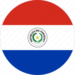 circle, circular, country, flag, flag of paraguay, flags, national, paraguay, paraguay flag, round, world icon