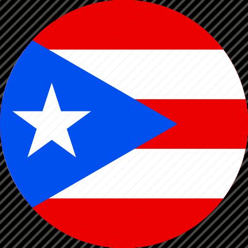 circle, circular, country, flag, flag of puerto, flag of puerto rico, flags, national, pr, puerto, puerto rico, puerto rico flag, rico, round, world icon