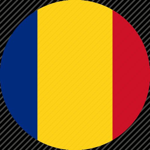 circle, circular, country, flag, flag of romania, flags, national, romania, romania flag, round, world icon